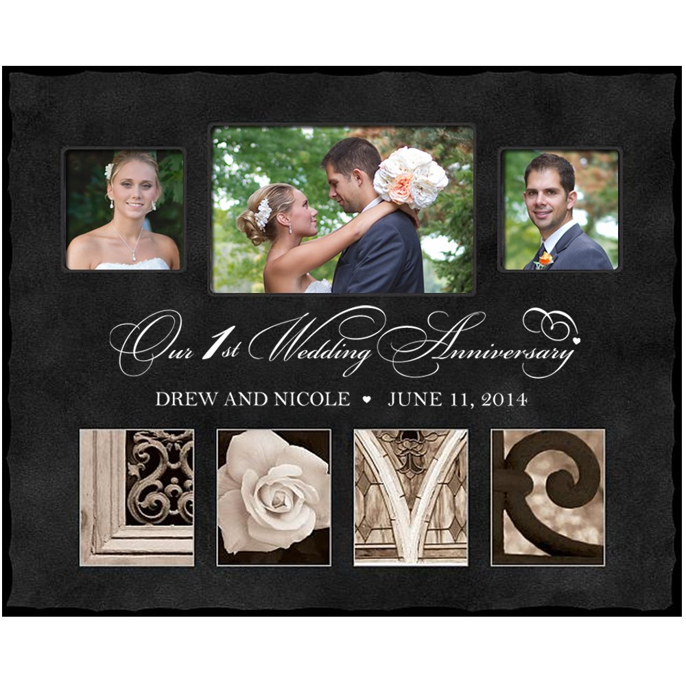 Amazon.com - 1st Anniversary Picture frame Gift Personalized with ...