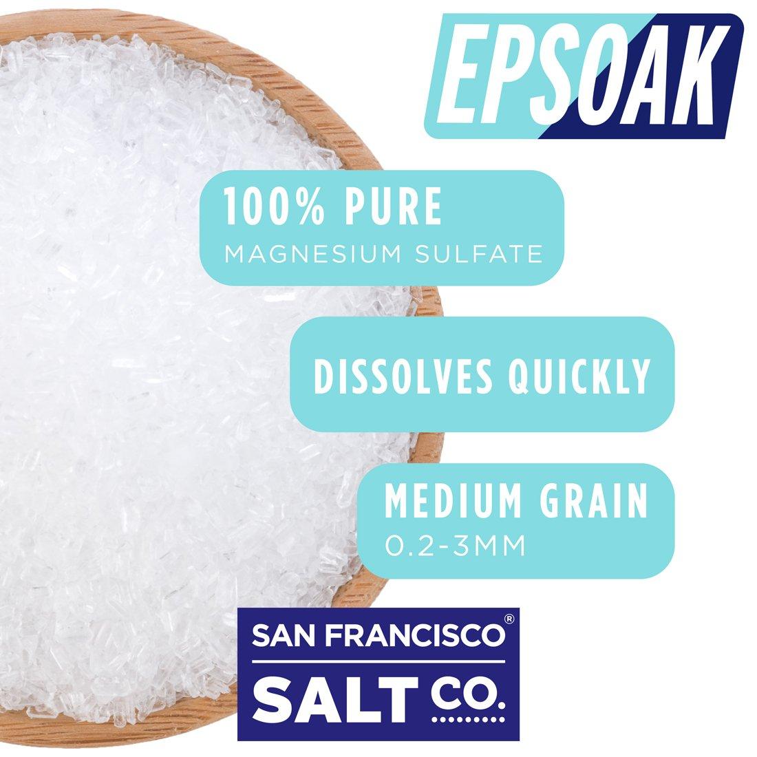 Epsoak Epsom Salt 5 lbs. Magnesium Sulfate USP by Epsoak (Image #2)
