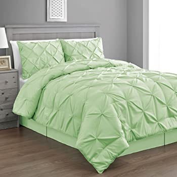 Amazon Com Pinch Pleat Mint Green Color King Size 4 Piece