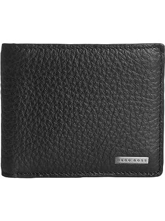 aeccc4c0e8e Amazon.com: Hugo Boss Brummi Bi-Fold Coin Pocket Black Leather Wallet in  Box: Clothing