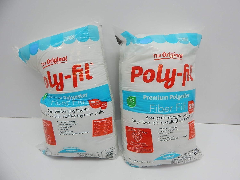 12 oz Fairfield FAIPFT12 Fiber Poly Fil Bag White