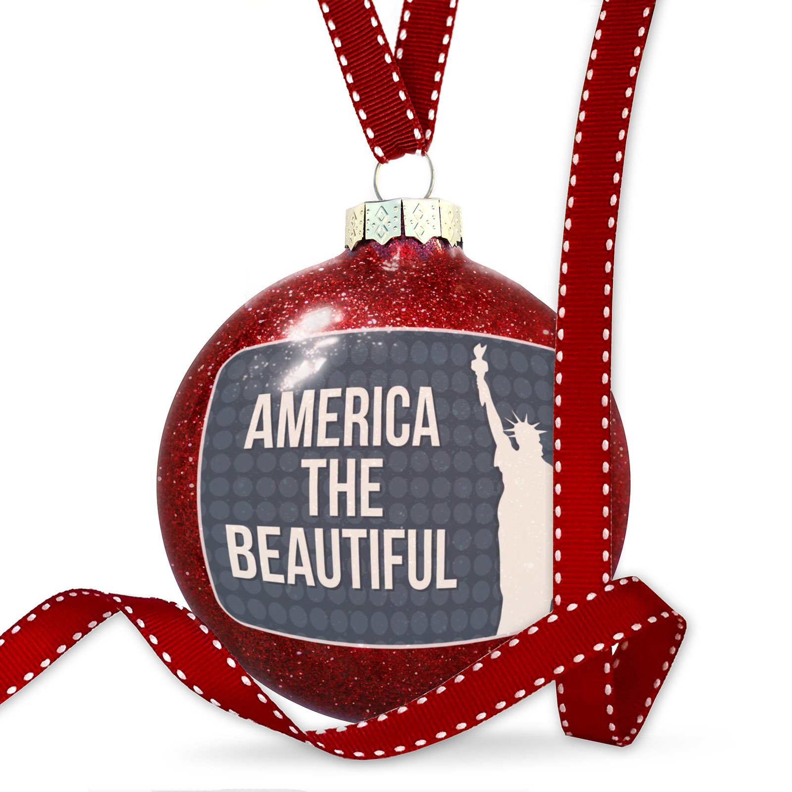 Christmas Decoration America the Beautiful Fourth of July Lady Liberty Ornament by NEONBLOND (Image #1)