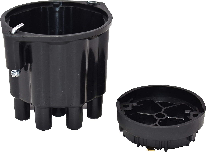 A-Team Performance Universal 8-Cylinder Female Pro Series Distributor Cap /& Rotor Kit Black