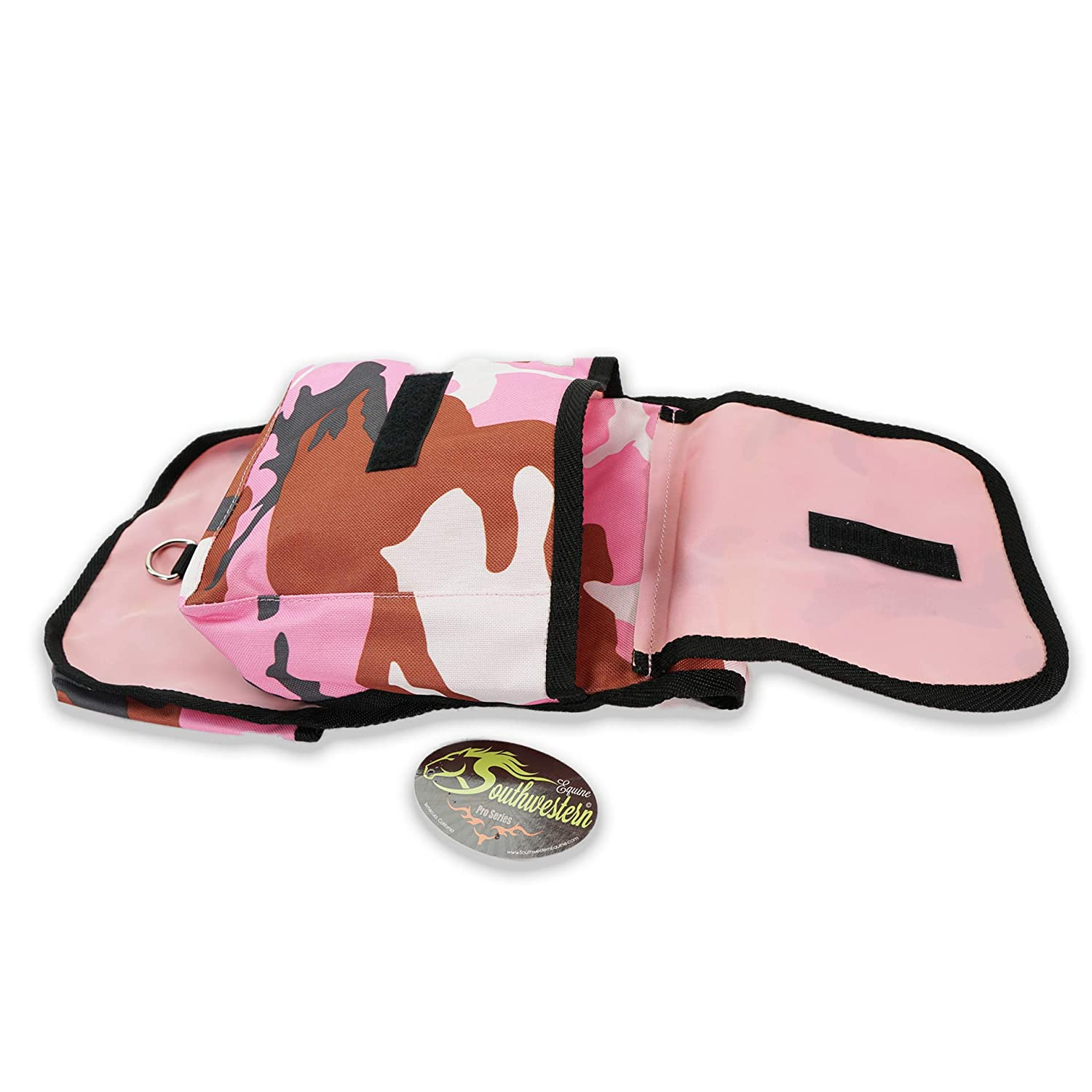 Southwestern Equine Nylon Horn Bag Fun Colors with Pockets