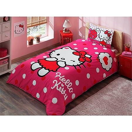 Copripiumino Hello Kitty.Copripiumino Singolo Cotone 100 Hello Kitty Ragazza 3 Pz Letto