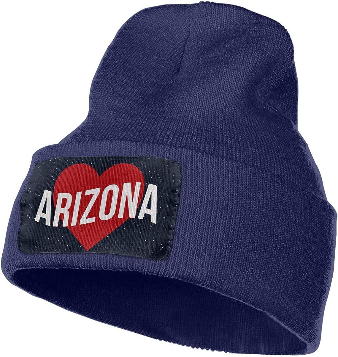 Arizona Women and Men Skull Caps Winter Warm Stretchy Knit Beanie Hats