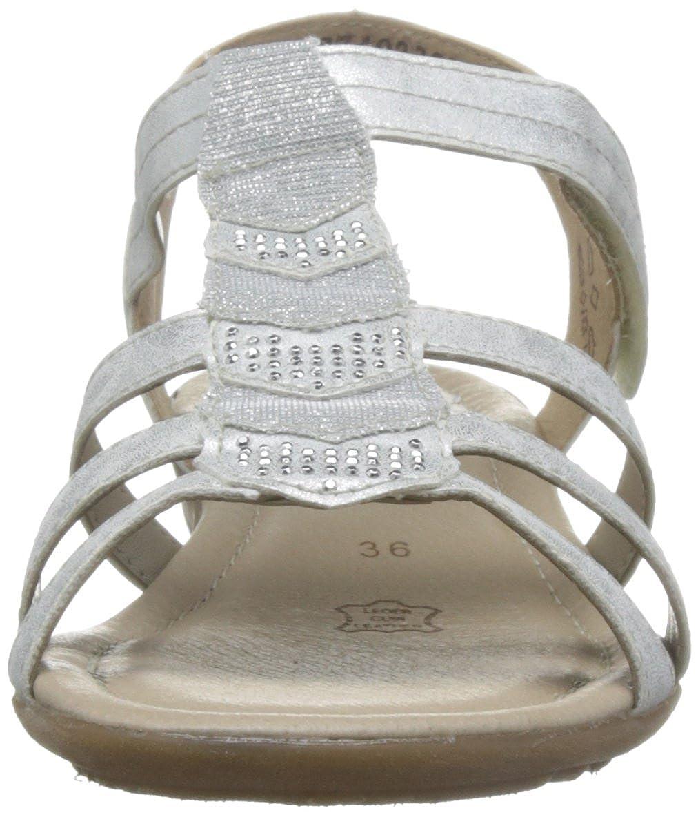 Remonte Damen R3637 T-Spangen T-Spangen R3637 Sandalen Silber (Ice/Silber) bb57e7