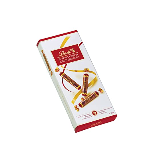 Lindt Kirschstängeli 125 g Chocolate con leche - Barras de chocolate (125 g, Chocolate