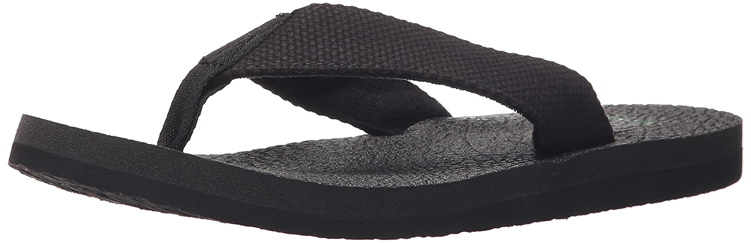 Mens Yogi 4 Flip Flop, Blackout, 14 M US Sanuk