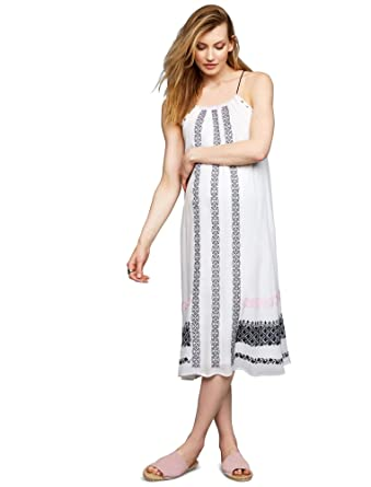 4d01ac5604ba2 A Pea in the Pod Embroidery Maternity Dress at Amazon Women's Clothing  store: