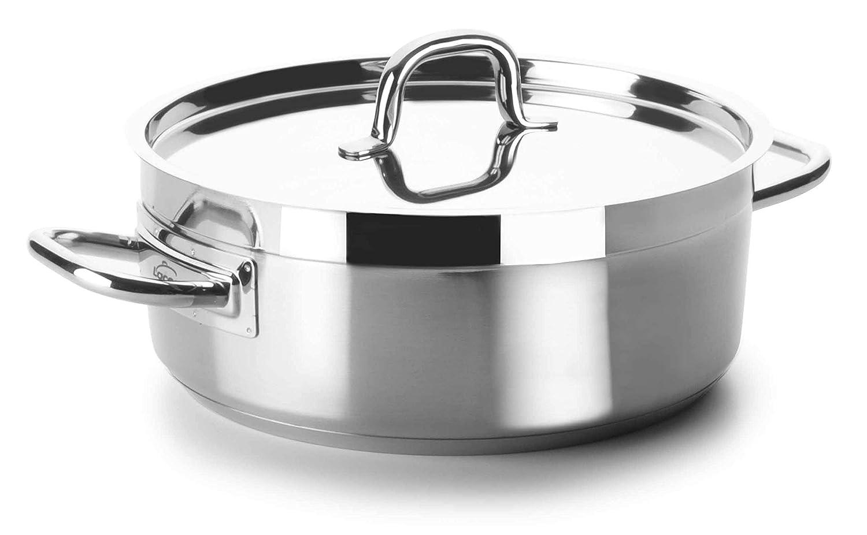 Lacor - 54040s - Cacerola Sin Tapa Chef Luxe 40 Cm Inox