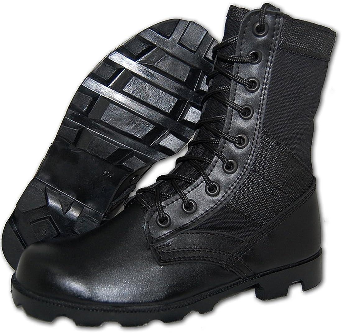 KRAZY SHOE ARTISTS COMBAT Jungle Boot Men in Black
