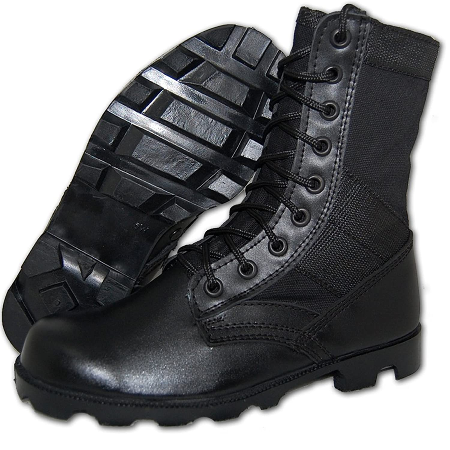 Amazon.com | SHOE ARTISTS COMBAT Jungle Boot Men in Black ...