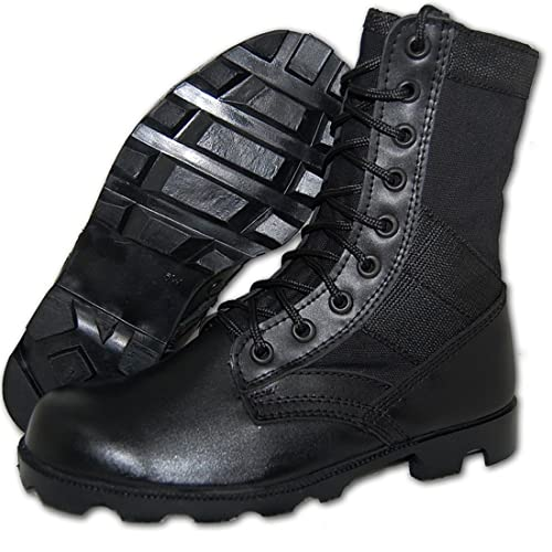 COMBAT Jungle Boot Leather-Canvas Black, Men