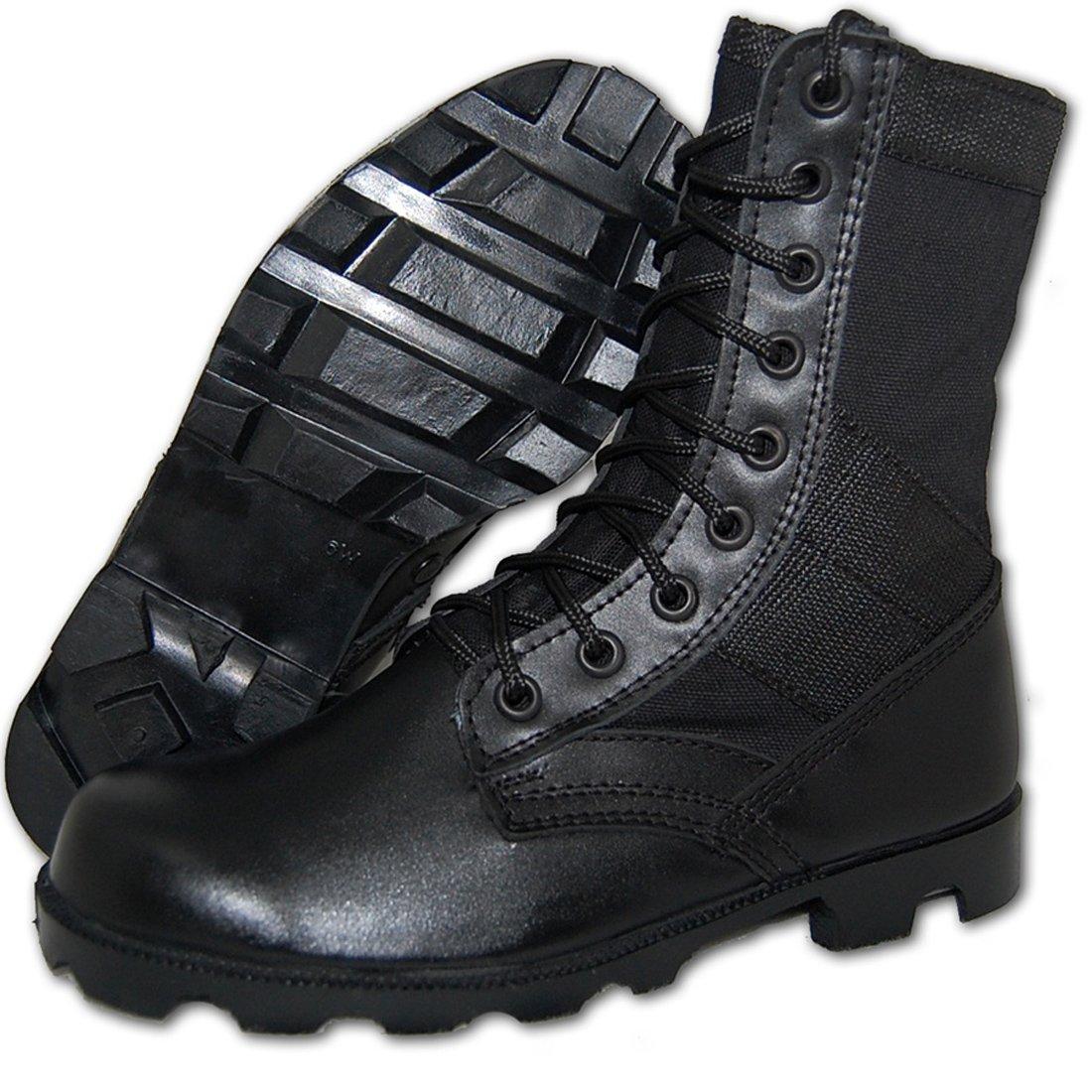 Combat Jungle Boot Leather-Canvas Black, Men (10D US)