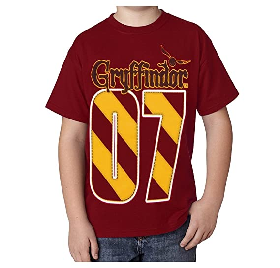 40fac69d9 Harry Potter Youth Unisex T-Shirt Gryffindor Quidditch MVP, Red (Large)