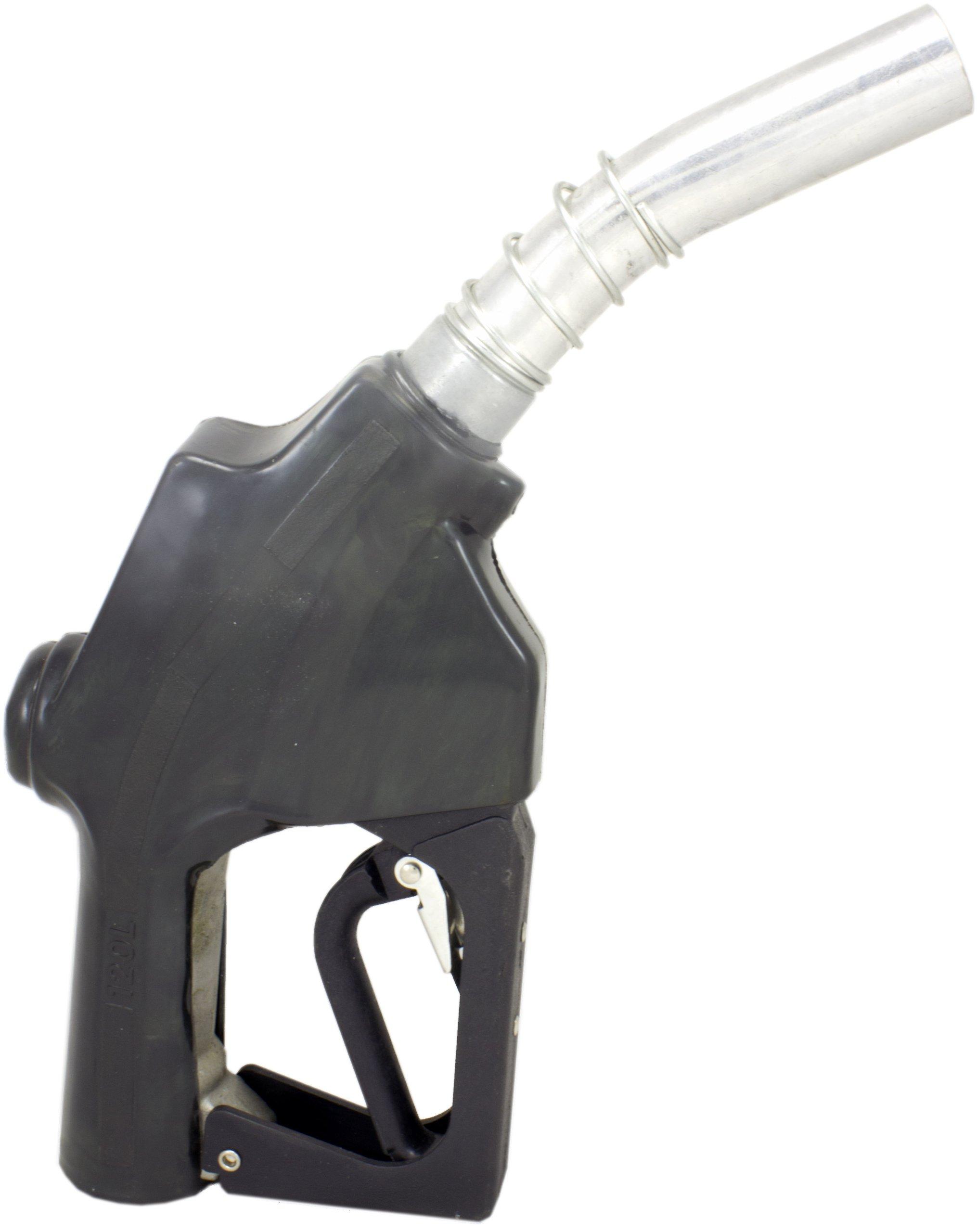 """ZL-120L Black Automatic Fueling Nozzle, 1"""" NPT Inlet, 1-3/16"""" Spout"""