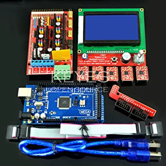 Aokin LCD 12864 Graphic Smart Display Controller Board with Adapter and Cable for 3D Printer Ramps 1.4 RepRap 3D Printer Mendel Prusa Arduino