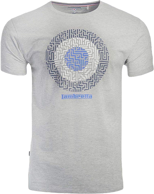 Lambretta - Camiseta informal para hombre con diseño geométrico ...