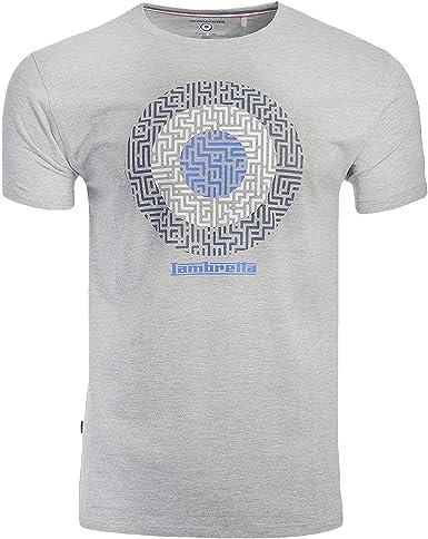 Lambretta - Camiseta informal para hombre con diseño geométrico: Amazon.es: Ropa y accesorios