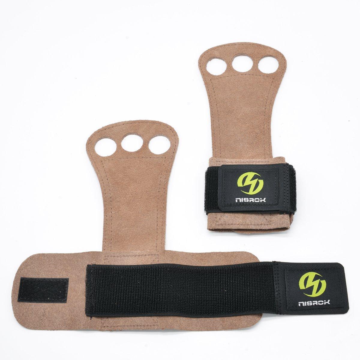 Weightlfting,Powerlifting,Barbells,Kettlebells Nisrok Gymnastics Hand Grips Free Carrying Bag Crossfit Gloves Great for Pull Ups,Cross Training