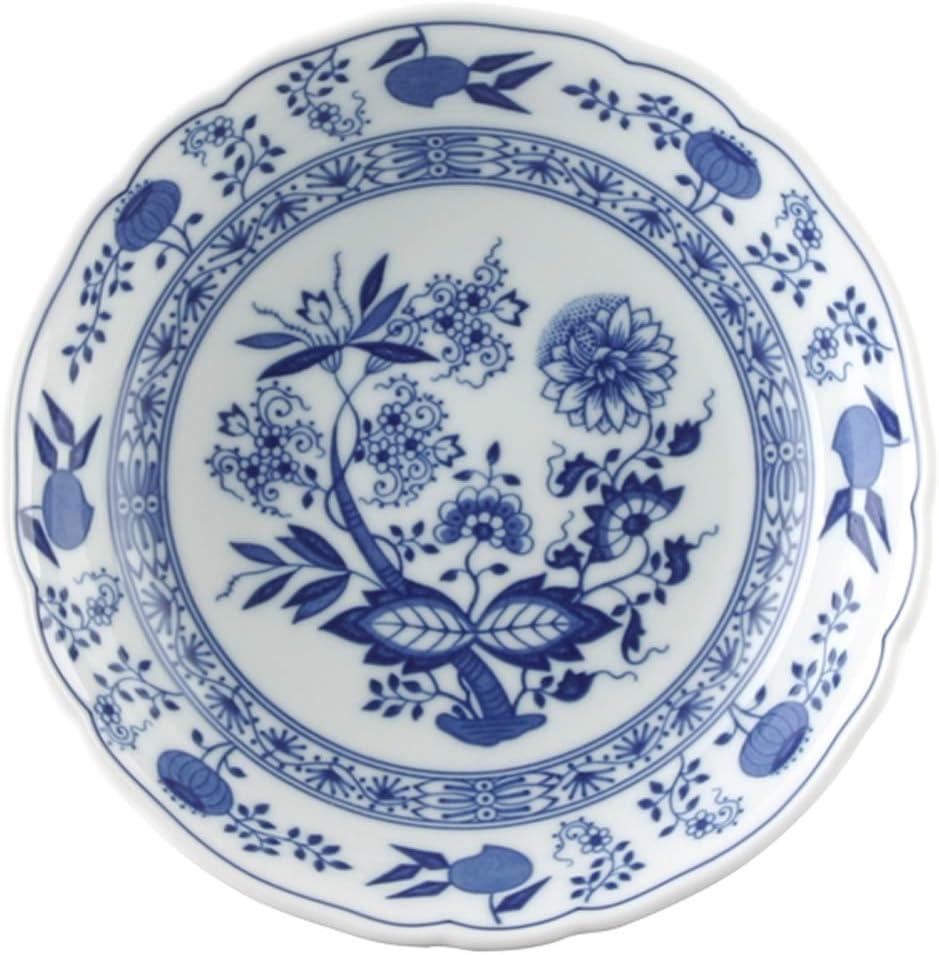 Suppenteller mit Fahne Hutschenreuther  Zwiebelmuster weiß blau