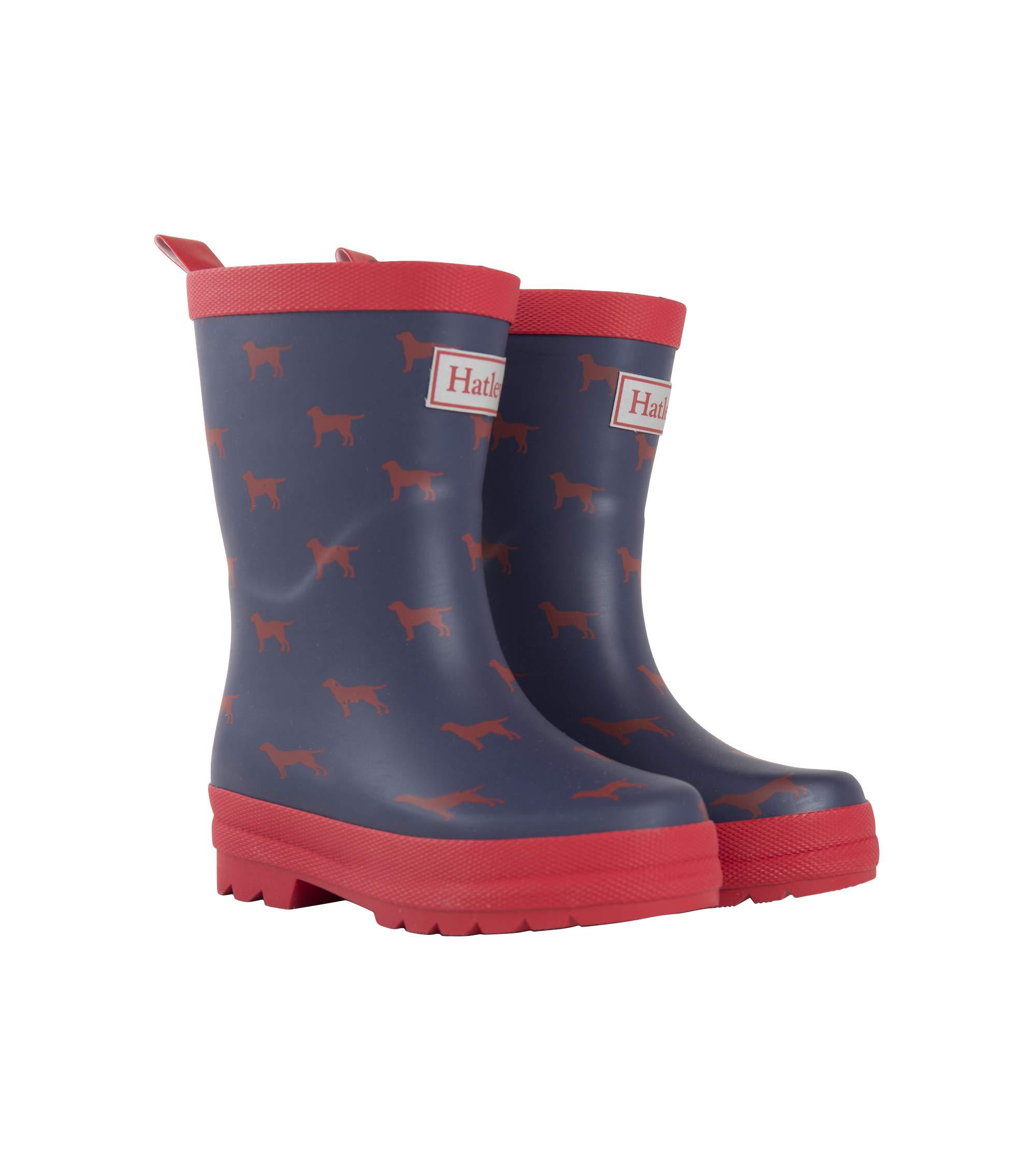 Hatley Boys' Printed Rain Boots Raincoat Red Labs 9 US Child