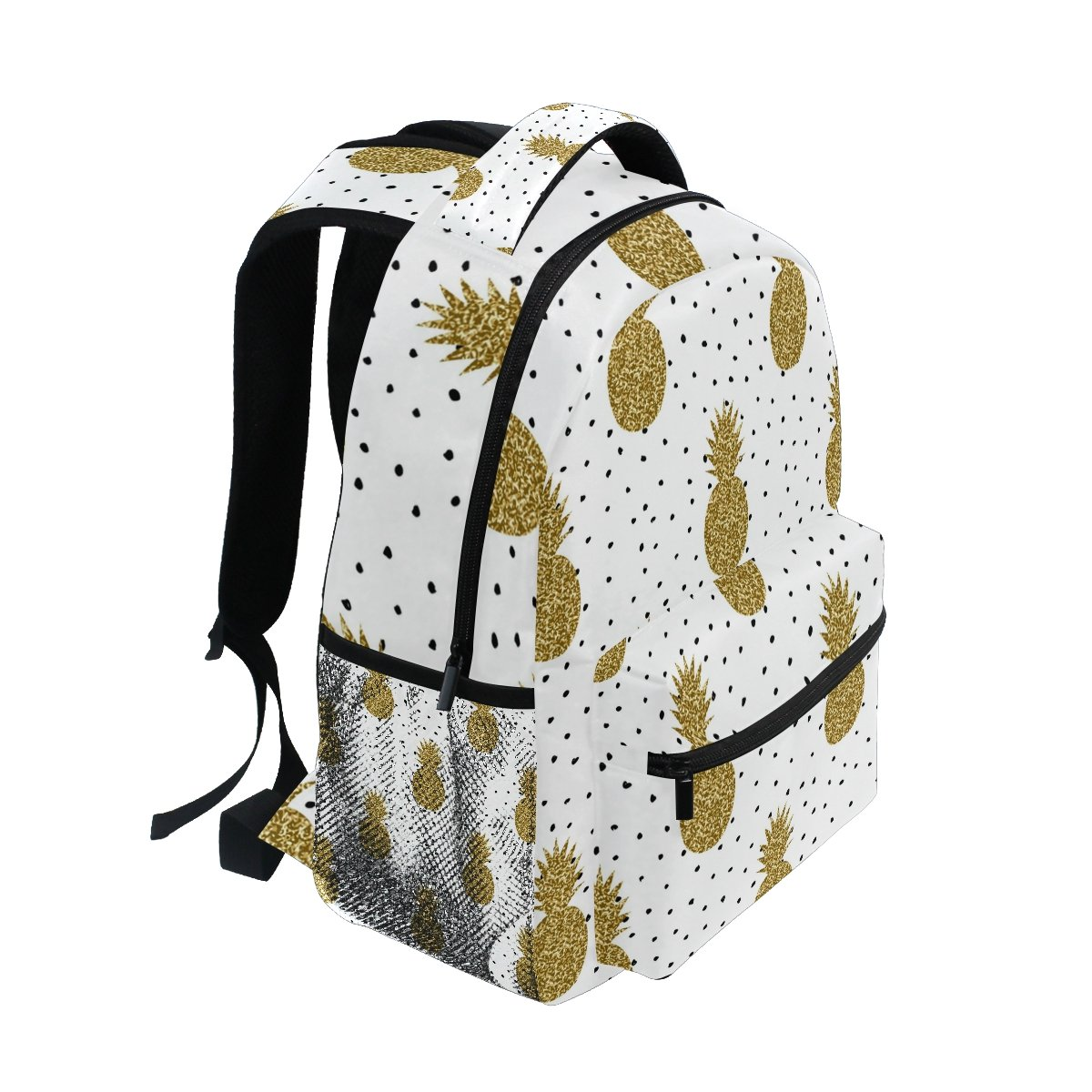 Amazon.com: ZZKKO Tropical Pineapple Polka Dot Backpacks College School Book Bag Travel Hiking Camping Daypack: Computers & Accessories