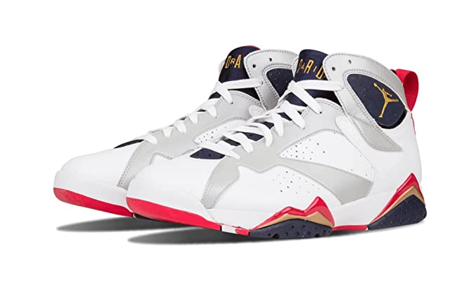 innovative design 7848d dca18 Amazon.com   NIKE Mens Air Jordan 7 Retro Olympic Leather Basketball Shoes    Basketball