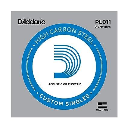 DAddario PL011 - Cuerda para guitarra eléctrica de acero, talla 11, 1