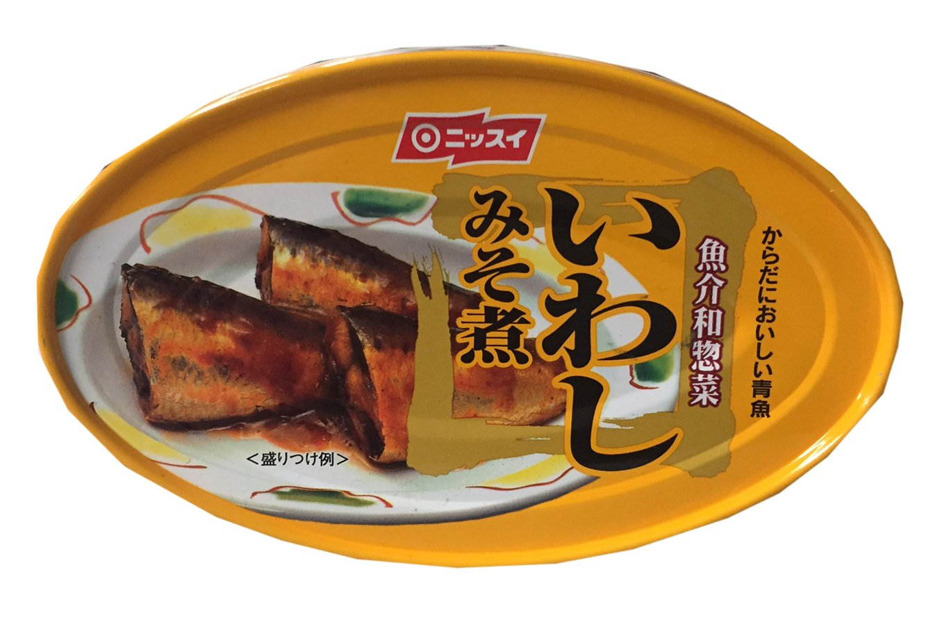 Nissui Canned Sardine in Soybean Paste 3.52 oz (3 Pack)
