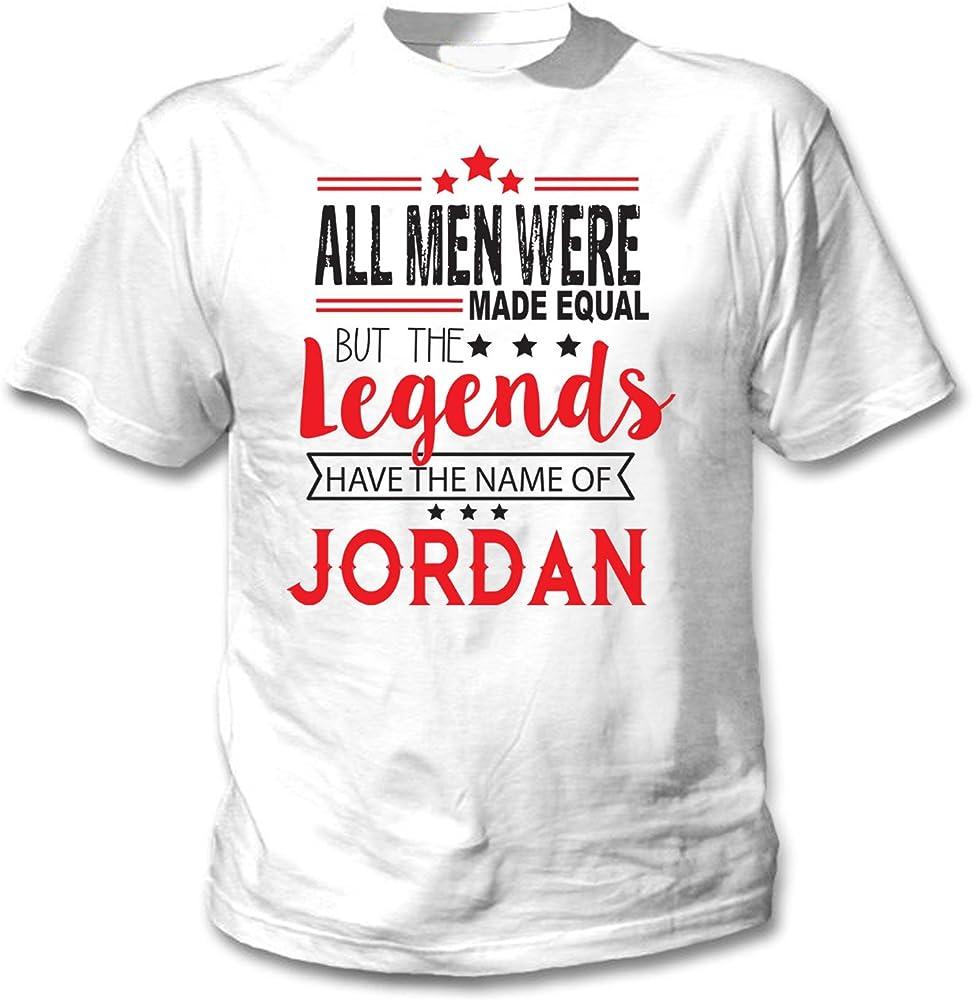 teesquare1st Jordan Camiseta Blanca para Hombre de Algodon Size Small: Amazon.es: Ropa y accesorios
