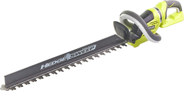 Ryobi - Cortasetos eléctrico (longitud de la hoja de sierra: 60 cm, con hoja de sierra, rendimiento de corte de 26 mm, sin batería, ergonómico) RHT36B61R