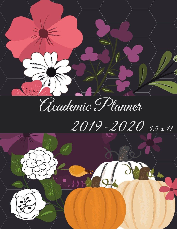 Ucm Academic Calendar.Amazon Com Academic Planner 2019 2020 8 5 X 11 Black Color Floral