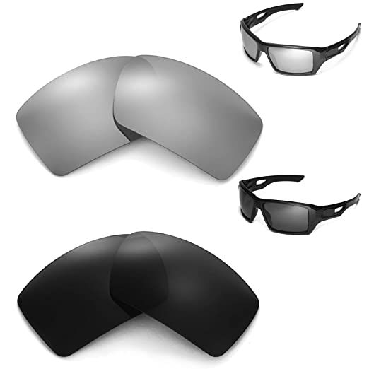 76357abb5e Image Unavailable. Image not available for. Color  New Walleva Polarized  Black + Titanium Lenses For Oakley Eyepatch 2