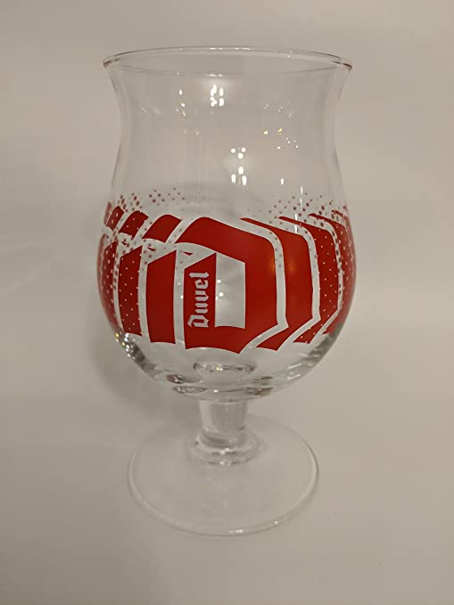 "NEW BELGUIM BREWING COMPANY STEMMED WINE GLASS  6.5/"" RED /& BLACK LOGO"