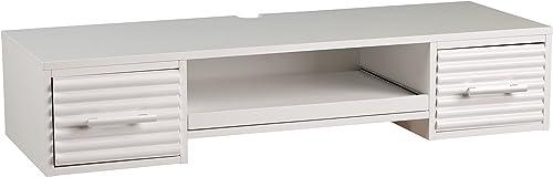 SEI Furniture Simon Floating Wall Mount Desk 42″