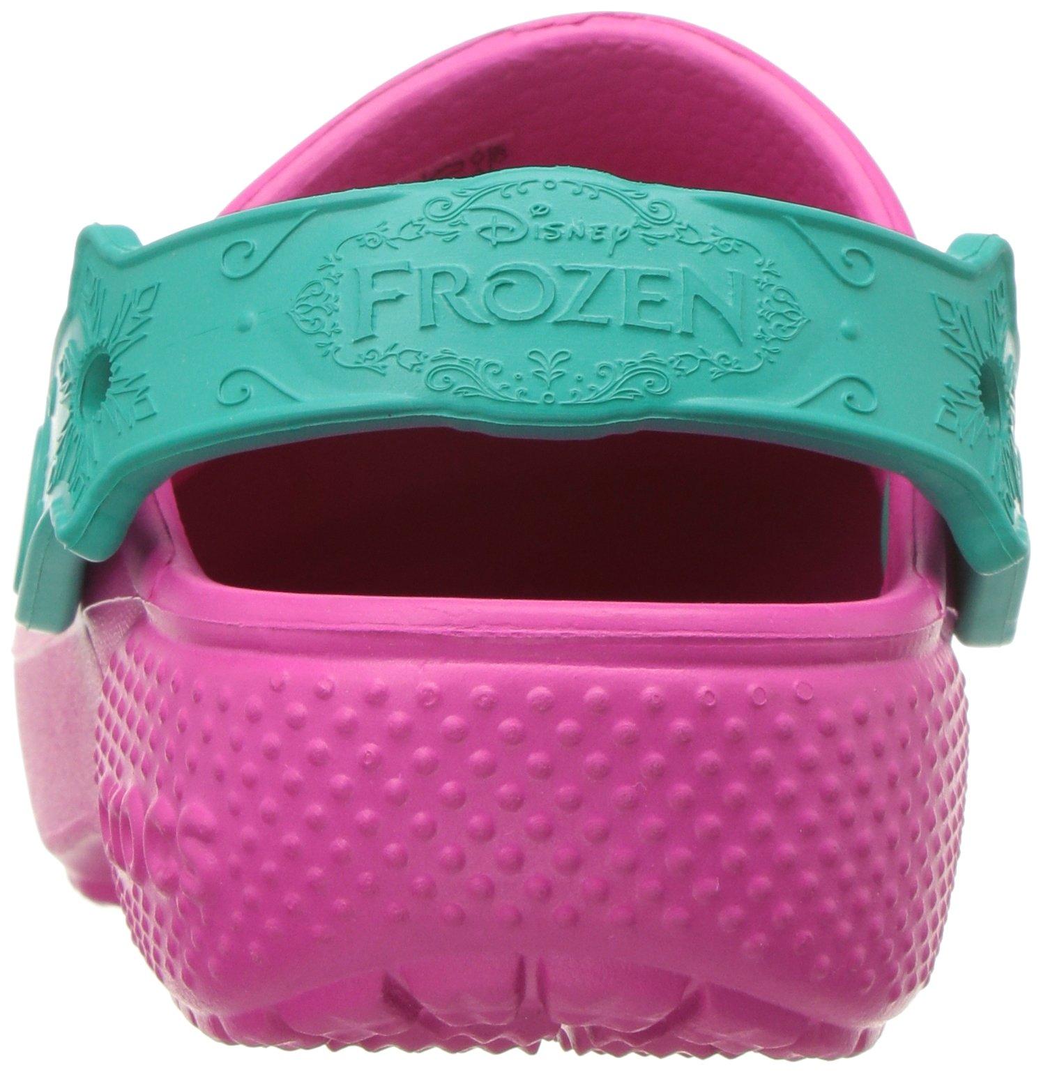 Crocs Girls' Fun Lab Frozen Clog K, Candy Pink, 10 M US Little Kid by Crocs (Image #2)