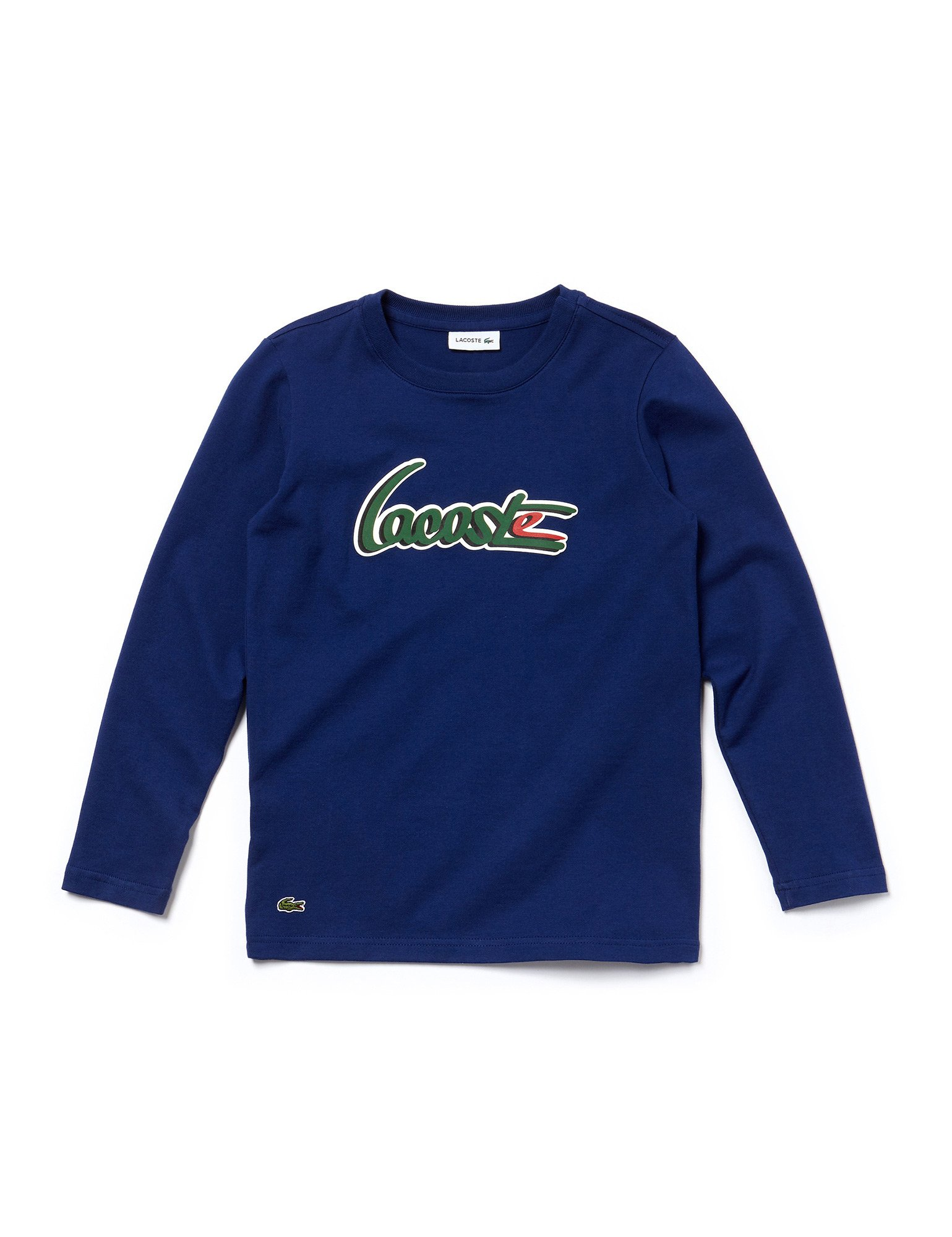Lacoste Boy's Navy Long Sleeve Top With Logo in Size 4 Years (104 cm) Navy by Lacoste