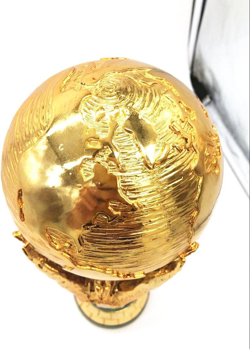 Amazon Com 1 1 36cm World Cup Football Trophy Resin Replica Trophies Model Brazil World Cup Best Soccer Fan Souvenir Gift Sports Outdoors