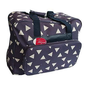 Bolso de la Máquina de Coser Azul con Triángulos Blancos Sew Easy MR4660-010: Amazon.es: Hogar