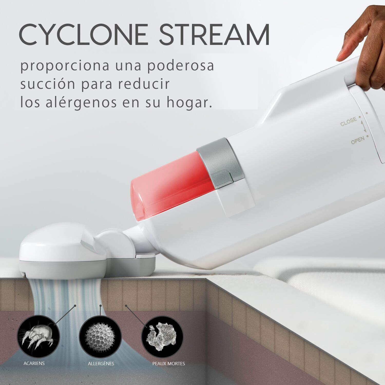 Iris Ohyama, Aspiradora anti-ácaros / antibacterias para colchones, almohadas, sofás, alfombras -Tecnología Cyclone Stream -Quilt Cleaner IC-FAC2