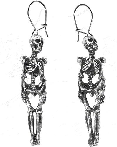Gothic Punk Skeleton Earrings