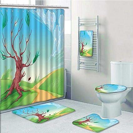 Amazon Com Designer Bath Polyester 5 Piece Bathroom Set