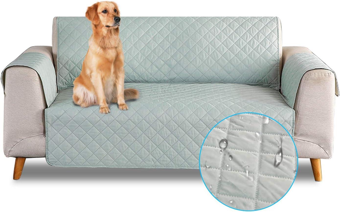 PETCUTE Funda de sofá 3 plazas Cubre Sofas Impermeable Protector de sofá Antideslizante