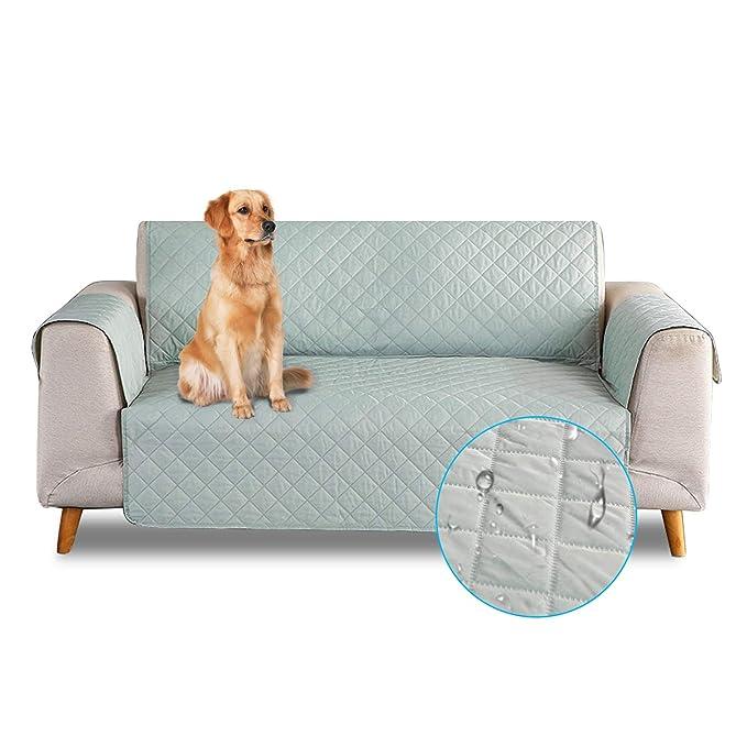 PETCUTE Sofa Fundas de sillones Impermeable Cubre sillones Fundas para sillones Fundas de Sofa 1 Plaza para Perros Gatos Vert