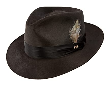 31887e6a45562 Dobbs Temptation Fur Felt Fedora Hat - DFTEMP at Amazon Men s Clothing  store
