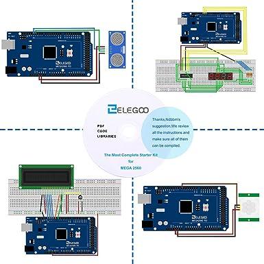 elegoo Mega 2560 Kit Starter proyecto la más completa w/Tutorial para Arduino Mega2560 UNO Nano: Amazon.es: Industria, empresas y ciencia
