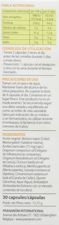 PRANAROM OLEOCAPS 2 GASTROINTESTINAL-URINARIA 30 CAPS: Amazon.es: Salud y cuidado personal