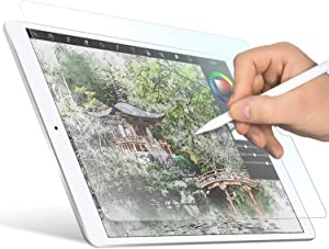 """ELECOM Paper-Feel Screen Protector Designed for Drawing, Anti-Glare Scratch-Resistant Bubble-Free, Compatible with 10.2"""" iPad 2019, 2020 (TB-A19RFLAPL-G)"""